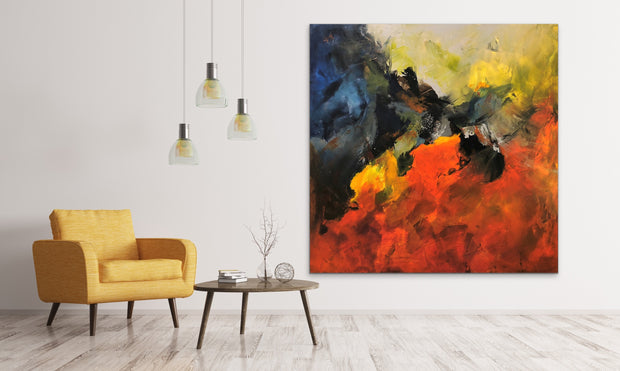 Breathtaking by Preethi Arts- 48x48 - Original Contemporary Modern Abstract Paintings by Preethi Arts
