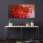 Ruby by Preethi Arts- 24x48 - Original Contemporary Modern Abstract Paintings by Preethi Arts