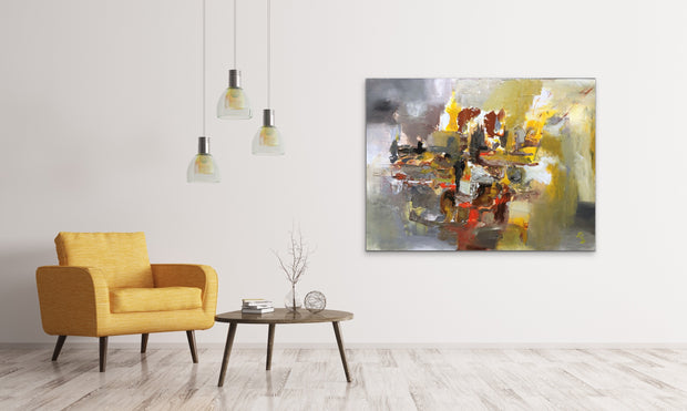 Ingenuity by Preethi Arts- 30x40 - Original Contemporary Modern Abstract Paintings by Preethi Arts