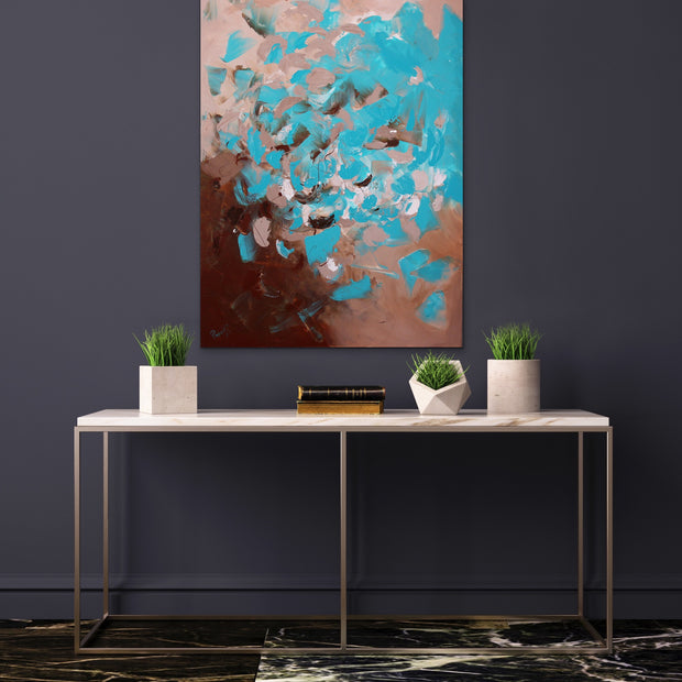 Aquamarine by Preethi Arts- 30x40 - Original Contemporary Modern Abstract Paintings by Preethi Arts