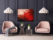Redsky by Preethi Arts- 30x40 - Original Contemporary Modern Abstract Paintings by Preethi Arts