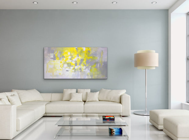 Lonely Planet by Preethi Arts- 24x48 - Original Contemporary Modern Abstract Paintings by Preethi Arts