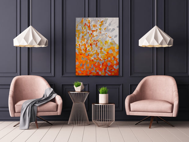 Magma by Preethi Arts- 30x40 - Original Contemporary Modern Abstract Paintings by Preethi Arts