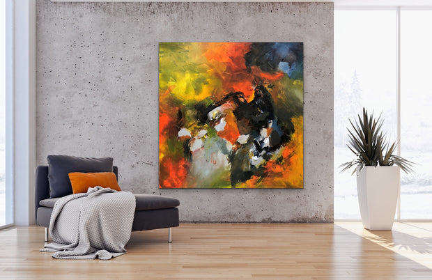 Astonishing by Preethi Arts- 48x48 - Original Contemporary Modern Abstract Paintings by Preethi Arts