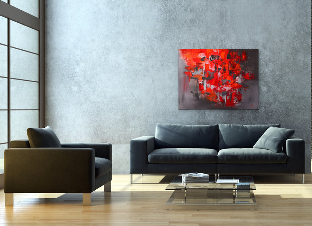 Optimism by Preethi Arts- 30x40 - Original Contemporary Modern Abstract Paintings by Preethi Arts