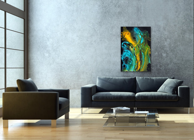 Dragon Queen by Preethi Arts- 24x36 - Original Contemporary Modern Abstract Paintings by Preethi Arts