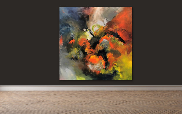 Sensational by Preethi Arts- 48x48 - Original Contemporary Modern Abstract Paintings by Preethi Arts