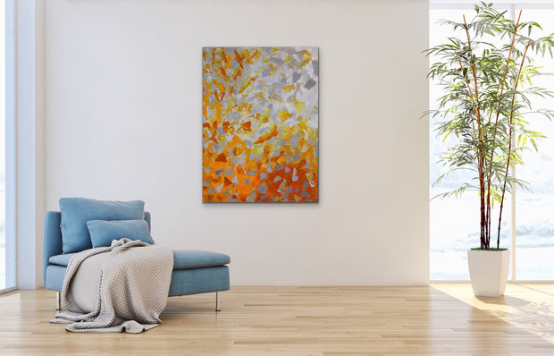 Eruption by Preethi Arts- 30x40 - Original Contemporary Modern Abstract Paintings by Preethi Arts