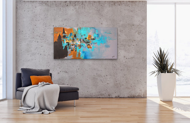Quartz by Preethi Arts- 24x48 - Original Contemporary Modern Abstract Paintings by Preethi Arts