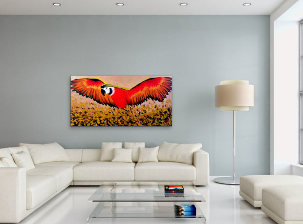 Happy flight by Preethi Arts- 24x48 - Original Contemporary Modern Abstract Paintings by Preethi Arts