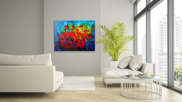 Zodiac by Preethi Arts- 40x30 - Original Contemporary Modern Abstract Paintings by Preethi Arts