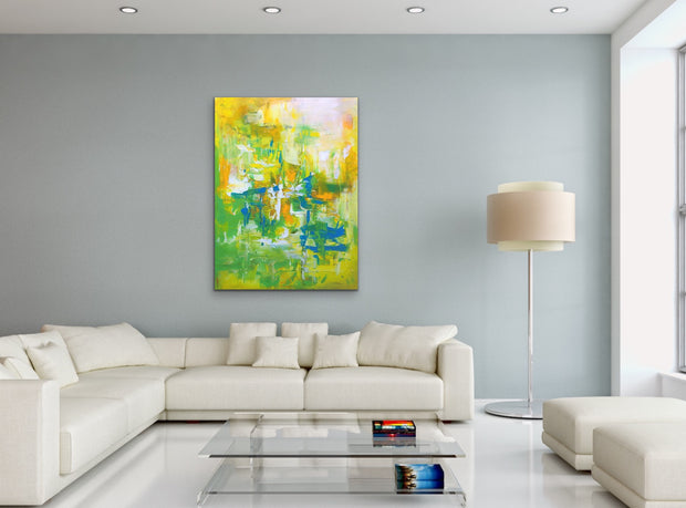 Mesmeric 2 by Preethi Arts- 30x40 - Original Contemporary Modern Abstract Paintings by Preethi Arts