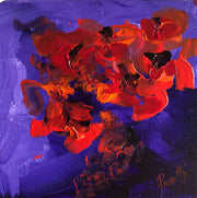 Love 4 by Preethi Arts- 6x6 - Original Contemporary Modern Abstract Paintings by Preethi Arts