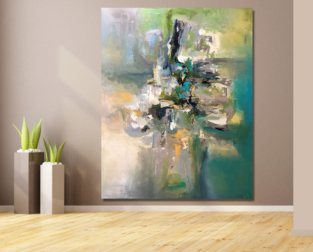 Miraculous by Preethi Arts- 60x48 - Original Contemporary Modern Abstract Paintings by Preethi Arts