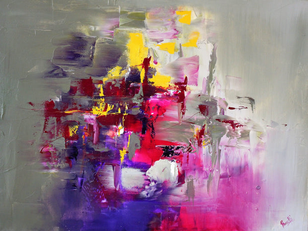 Pink Diamond by Preethi Arts- 30x40 - Original Contemporary Modern Abstract Paintings by Preethi Arts