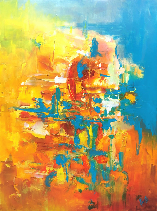 Sizzle by Preethi Arts- 30x40 - Original Contemporary Modern Abstract Paintings by Preethi Arts