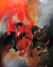 Spectacular by Preethi Arts- 60x48 - Original Contemporary Modern Abstract Paintings by Preethi Arts