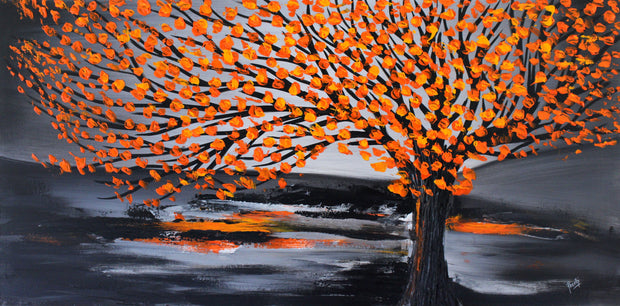 Spring time by Preethi Arts- 24x48 - Original Contemporary Modern Abstract Paintings by Preethi Arts
