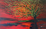 Summer by Preethi Arts- 30x48 - Original Contemporary Modern Abstract Paintings by Preethi Arts