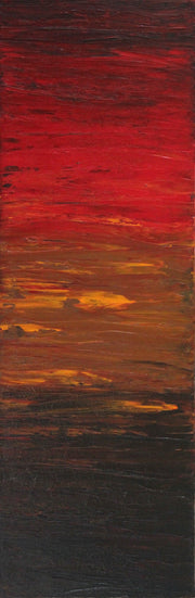 Sunshades 2 by Preethi Arts- 36x12 - Original Contemporary Modern Abstract Paintings by Preethi Arts
