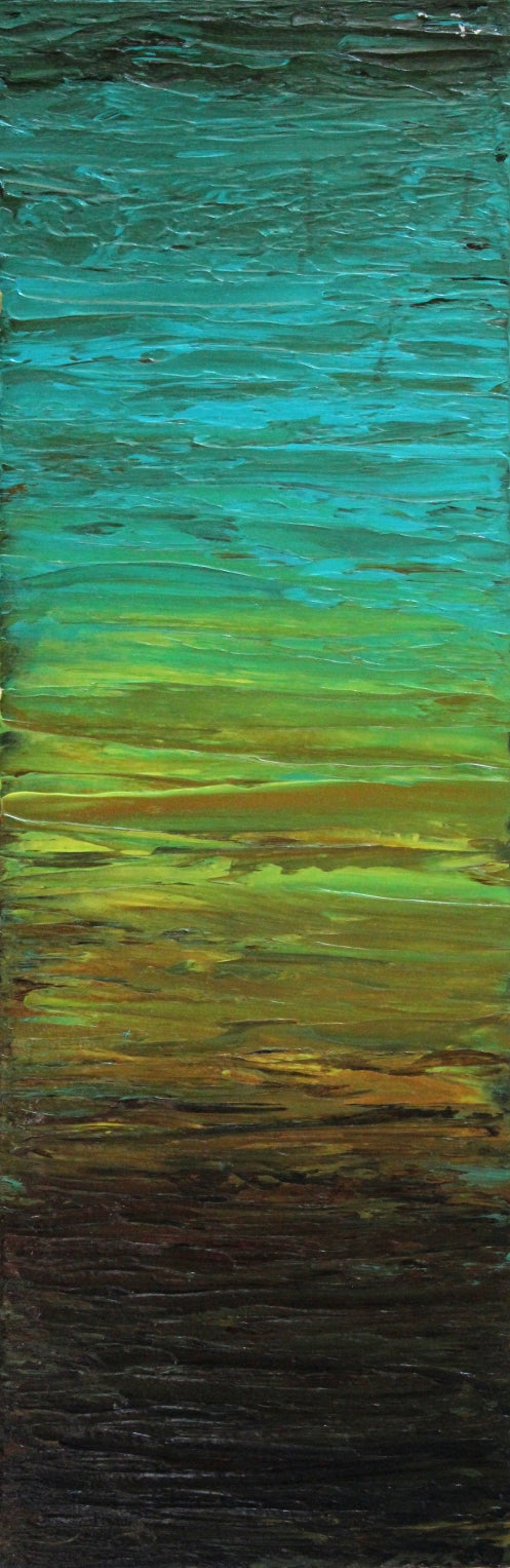 Sunshades 3 by Preethi Arts- 36x12 - Original Contemporary Modern Abstract Paintings by Preethi Arts