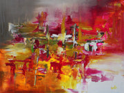 Swift by Preethi Arts- 40x30 - Original Contemporary Modern Abstract Paintings by Preethi Arts