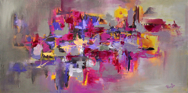 Topaz by Preethi Arts- 24x48 - Original Contemporary Modern Abstract Paintings by Preethi Arts