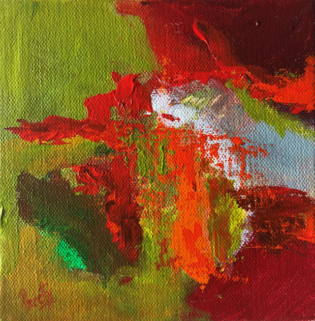 Trust 1 by Preethi Arts- 6x6 - Original Contemporary Modern Abstract Paintings by Preethi Arts