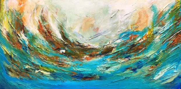 Waves by Preethi Arts- 24x48 - Original Contemporary Modern Abstract Paintings by Preethi Arts