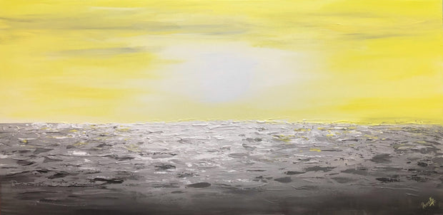 Coastal-2 by Preethi Arts- 24x48 - Original Contemporary Modern Abstract Paintings by Preethi Arts
