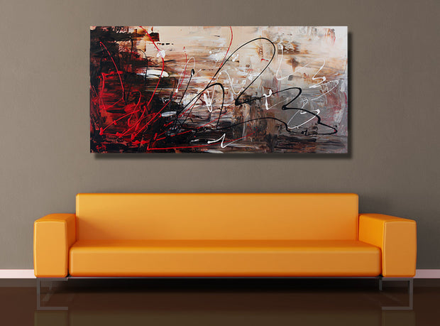 The fuse by Preethi Arts- 24x48 - Original Contemporary Modern Abstract Paintings by Preethi Arts