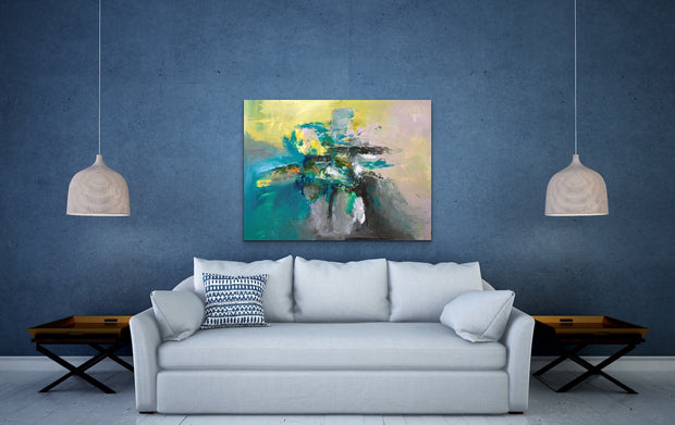 Lush by Preethi Arts- 30x40 - Original Contemporary Modern Abstract Paintings by Preethi Arts