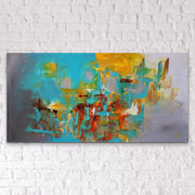 Ocean Jasper by Preethi Arts- 24x48 - Original Contemporary Modern Abstract Paintings by Preethi Arts