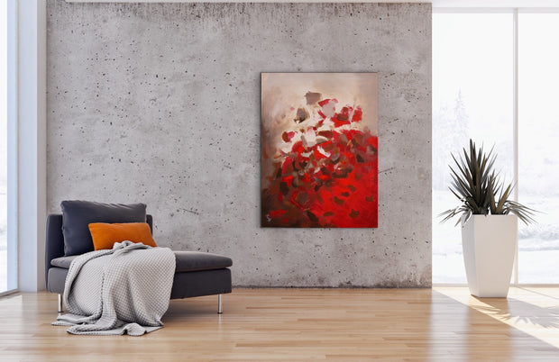 Grandeur by Preethi Arts- 30x40 - Original Contemporary Modern Abstract Paintings by Preethi Arts