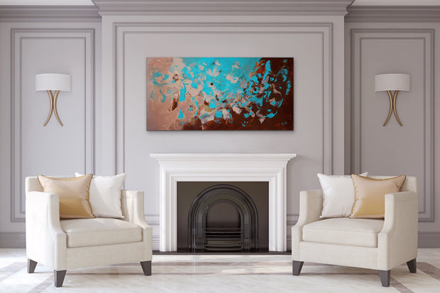 Generous by Preethi Arts- 24x48 - Original Contemporary Modern Abstract Paintings by Preethi Arts