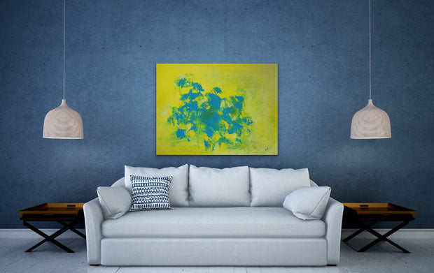 Refreshing 2 by Preethi Arts- 30x40 - Original Contemporary Modern Abstract Paintings by Preethi Arts