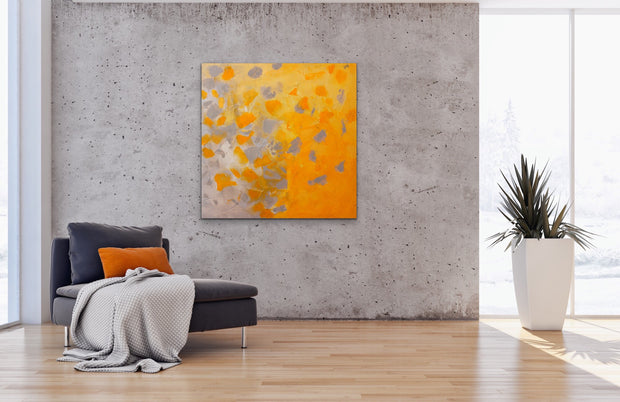 Mystery land by Preethi Arts- 36x36 - Original Contemporary Modern Abstract Paintings by Preethi Arts