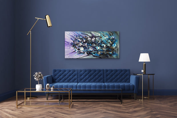Smashing by Preethi Arts- 24x48 - Original Contemporary Modern Abstract Paintings by Preethi Arts
