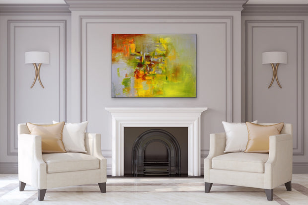 Olivine by Preethi Arts- 30x40 - Original Contemporary Modern Abstract Paintings by Preethi Arts