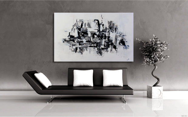 Carefree by Preethi Arts- 30x48 - Original Contemporary Modern Abstract Paintings by Preethi Arts