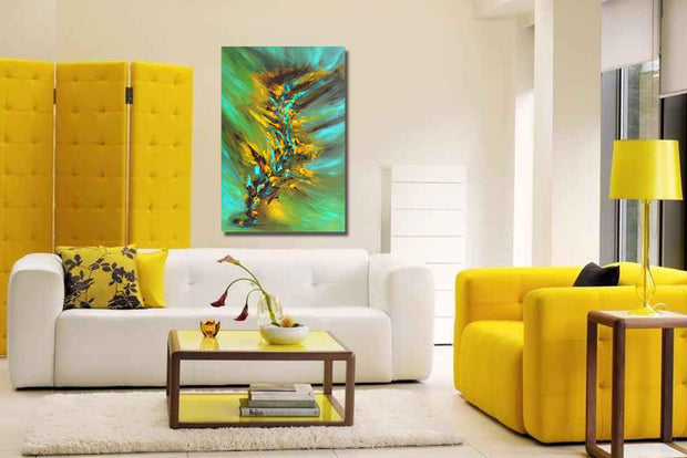 Fireflies by Preethi Arts- 24x36 - Original Contemporary Modern Abstract Paintings by Preethi Arts