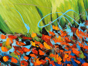 Wings of joy by Preethi Arts- 24x48 - Original Contemporary Modern Abstract Paintings by Preethi Arts