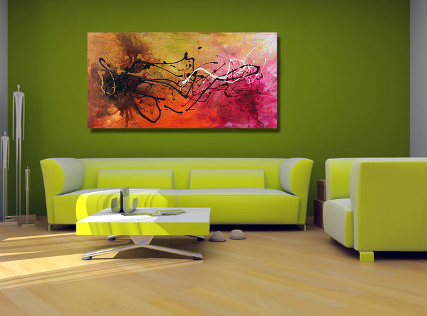 Surprise by Preethi Arts- 24x48 - Original Contemporary Modern Abstract Paintings by Preethi Arts