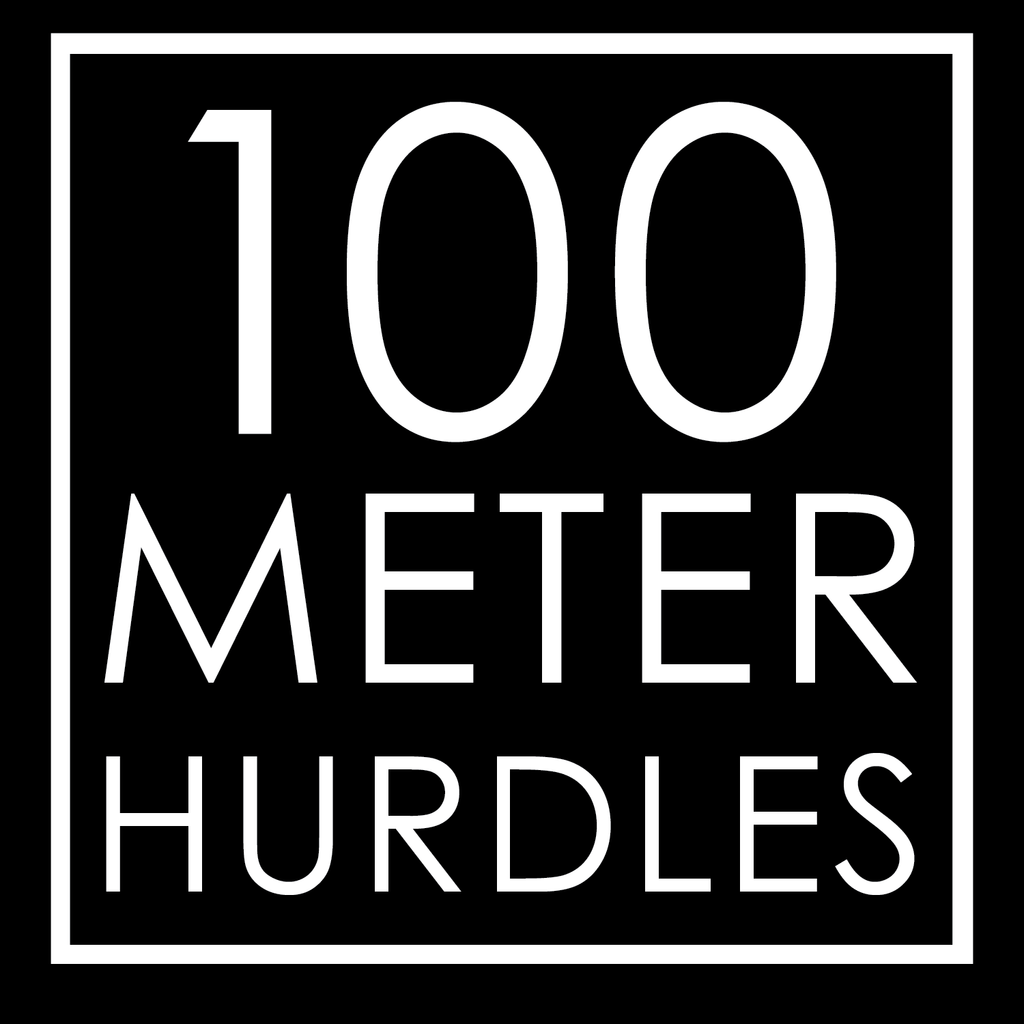 100 Meter Hurdles Decals Iron On