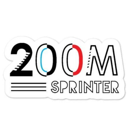 200 Meter Event Sticker