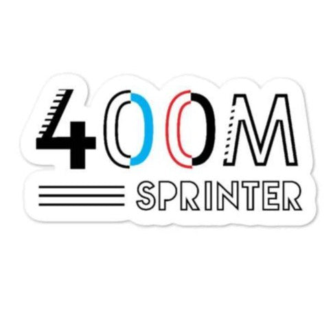 Runner Sticker - 400M Sprinter Sticker
