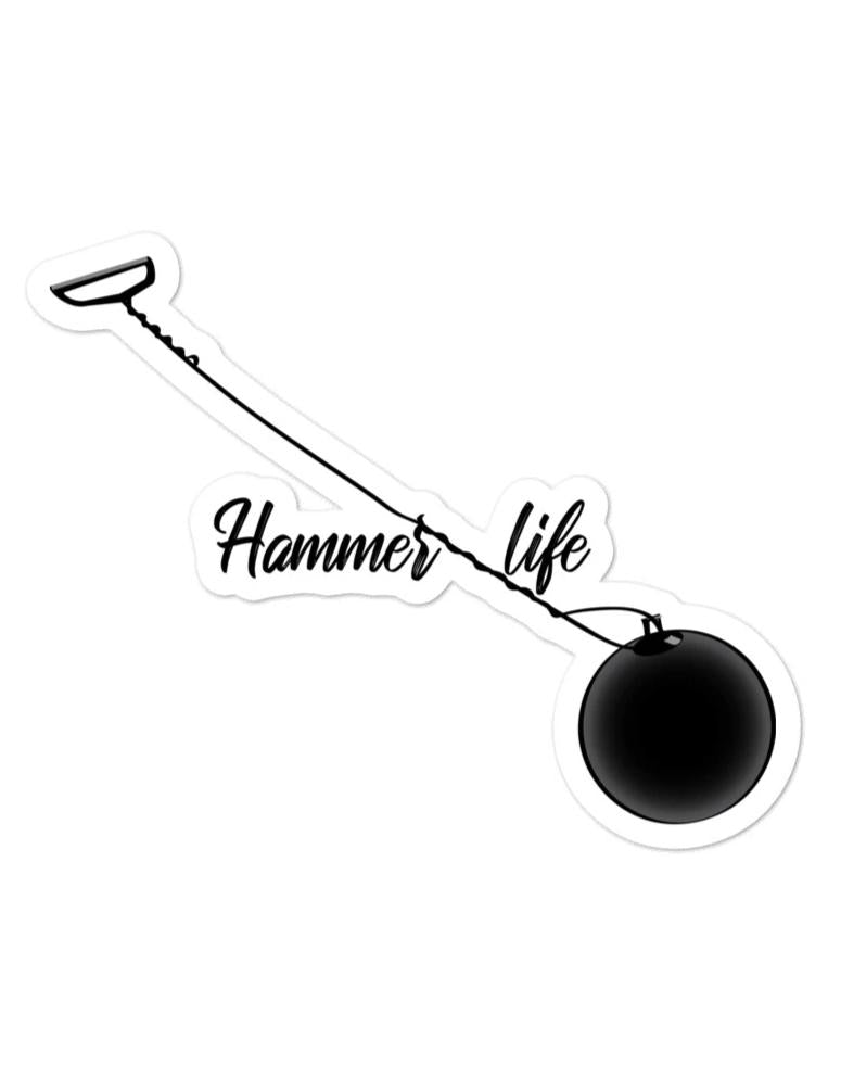 Hammer Life - Hammer Thrower Sticker