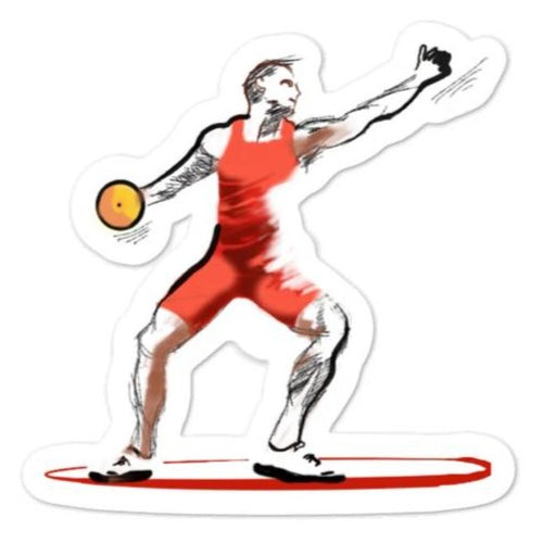 waterproof Stickers - Discus Thrower Sticker