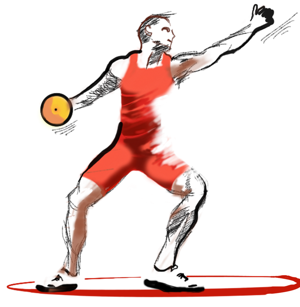 Die-cut Stickers - Discus Thrower Sticker