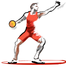Load image into Gallery viewer, Die-cut Stickers - Discus Thrower Sticker